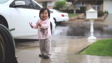 Toddler's Reaction To Rain is Priceless!