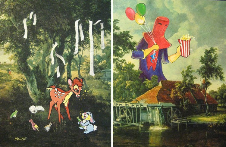 Pop-Culture-Characters-In-Store-Paintings-06