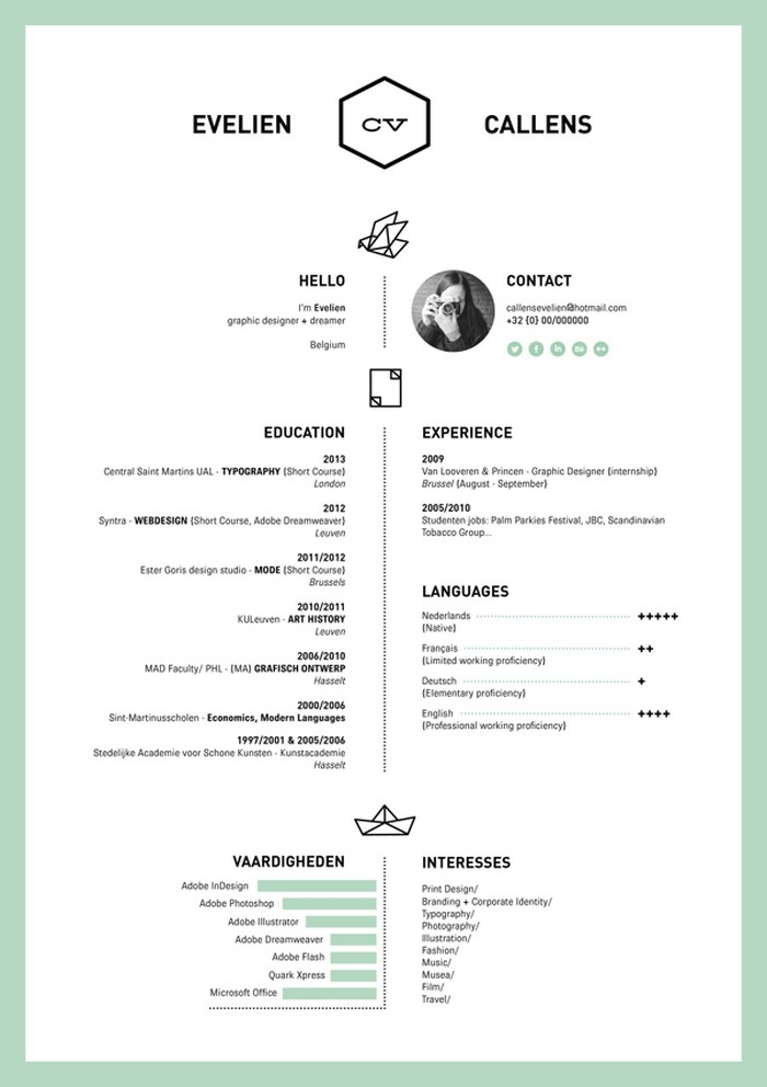 27 magnificent cv designs that will outshine all the others seenox - Simple resume design ...