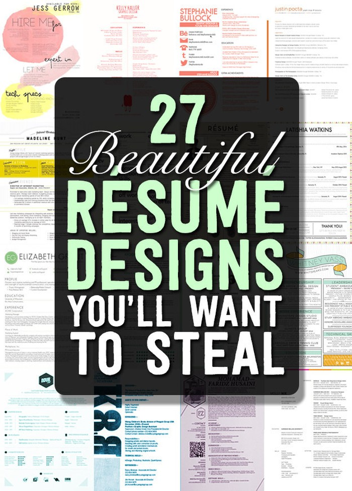 Stand Out Cv Designs : Magnificent cv designs that will outshine all the