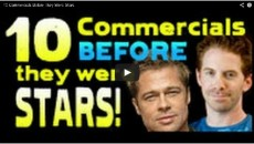 10 TV Spots Before They Were Stars! Brad Pitt, Di Caprio Etc.